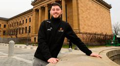 American dream: Ryan McHugh at the Philadelphia Museum of Art on the All-Stars' trip to the USA
