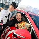 Ambassador and Cool FM DJ Rebecca McKinney and Lynda Hurley, Police Service Northern Ireland, pictured at the event in Belfast.