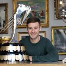 Pole position: reigning Irish Motorcyclist of the Year Jonathan Rea with the 2018 trophy