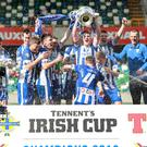 Stephen O'Donnell lifted the trophy last season as Coleraine landed their sixth ever Irish Cup title.