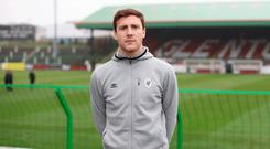 Right at home: Glentoran defender Willie Garrett at the Oval