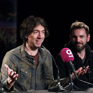 Snow Patrol's Gary Lightbody talks to reporters during a press conference in Belfast to announce the Ward Park 3, concert on Saturday May 25th 2019. Pic by Peter Morrison