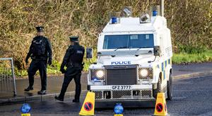 Police carry out search operations on the Old Golf Course road and Creightons Road in west Belfast following reports of a device on December 8th 2018 (Photo by Kevin Scott for Belfast Telegraph )