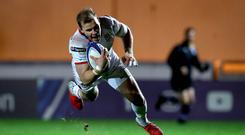 Ulster's Will Addison touches down for his try.