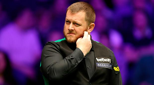 Mark Allen trailed Ronnie O'Sullivan after the afternoon session.