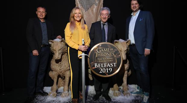 TBL International's Chief Executive, Judith Owens, is pictured with GES Events' Robin Stapley, Tourism NI's John McGrillen and HBO Global Licensing's Jeff Peters