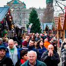 Christmas continental market outside Belfast City Hall