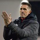 Step up: Stephen Baxter wants a response from his Crues players