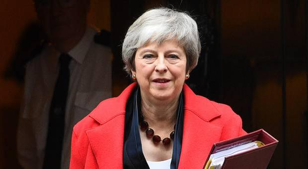 A United Ireland will move dramatically closer if the 'backstop' is removed from the Brexit deal, British Prime Minister Theresa May has said (Kirst O'Connor/PA)