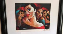 One of the paintings by Terry Bradley that was stolen last week