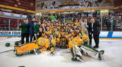The Clarkson University Golden Knights will play at the SSE Arena.