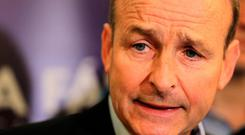 Issues: Micheal Martin said Fianna Fail is ready to fight an election / Credit: Gerry Mooney