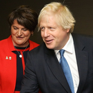 Boris Johnston with Arlene Foster and Nigel Dodds