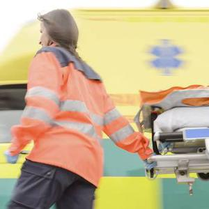 An emergency crew responded to the incident, as did the Air Ambulance (stock photo)
