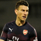 Leader: Arsenal's skipper Laurent Koscielny will feature