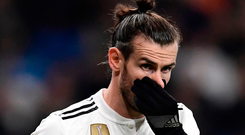 Too late: Gareth Bale was only a substitute for Real Madrid