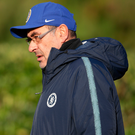 At training: Sarri yesterday
