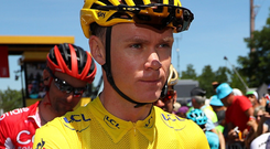 Moving on: Chris Froome expects Team Sky to get a new sponsor