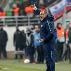 Head coach Maurizio Sarri of Chelsea FC reacts during the UEFA Europa League Group Stage Match between Vidi FC and Chelsea FC at Ferencvaros Stadium on December 13, 2018 in Budapest, Hungary. (Photo by Laszlo Szirtesi/Getty Images)