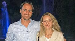 Paul Munster with his girlfriend Desiree, who has moved away from her native Sweden to join Paul in India.