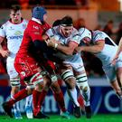 Back at it: Marcell Coetzee in action against Scarlets last week