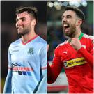 Ballymena's Jonny McMurray and Cliftonville Joe Gormley are wanted men.
