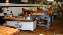 Attentive pupils: a lesson at Belfast Cookery School