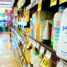 Johnson's baby powder stocked at a supermarket shelf in Alhambra, California. The pharmaceutical and cosmetics group saw its shares plunge on December 14, 2018. (Photo by FREDERIC J. BROWN / AFP)FREDERIC J. BROWN/AFP/Getty Images