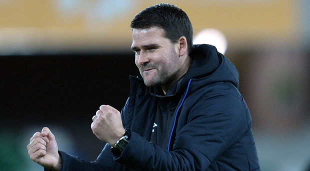 Frustration: David Healy is unhappy an extra fixture has been squeezed in