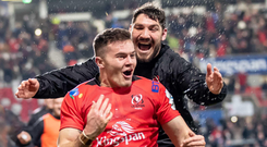 Glory night: Ulster try scorer Jacob Stockdale hailed by team-mate Tommy O'Toole