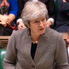 Prime Minister Theresa May make a statements in the House of Commons, London, following last week's EU summit - Credit: House of Commons/PA Wire