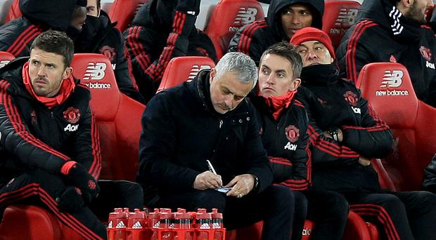 Jose Mourinho's final game in charge of United was at Anfield (Peter Byrne/PA)
