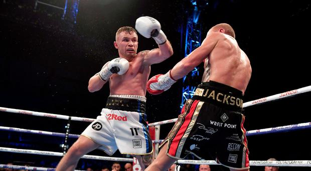 Ring star: Carl Frampton defeats Luke Jackson at Windsor Park in August