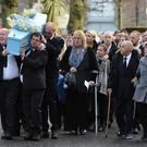 Pacemaker Press 19/12/18 Family and Friend during The Funeral of Kai Corkum at Clarke and Son funeral church in Newtownards on Wednesday. The three year old died after being hit by a car near his Newtownards home. Picture Colm Lenaghan /Pacemaker