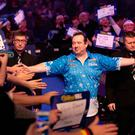 Brendan Dolan is into the third round of the World Darts Championship.