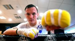 Iron fist: Josh Warrington is determined to extend his world title reign and set up a unification fight