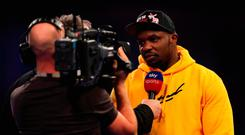 Good to talk: Dillian Whyte at the World Darts at Alexandra Palace