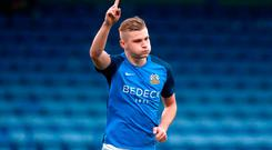 Golden chance: Glenavon ace Andrew Mitchell is determined to shoot down Linfield