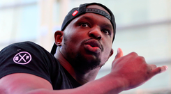 Good shape: Dillian Whyte says he's improved a lot