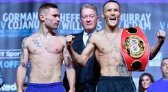 Calm before storm: Carl Frampton is not impressed with Josh Warrington's confident demeanour