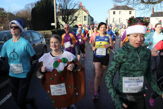 Press Eye - Belfast Telegraph - Run Forest Run - Kilbroney Forest Park, Rostrevor - 22nd December 2018 Photograph by Declan Roughan