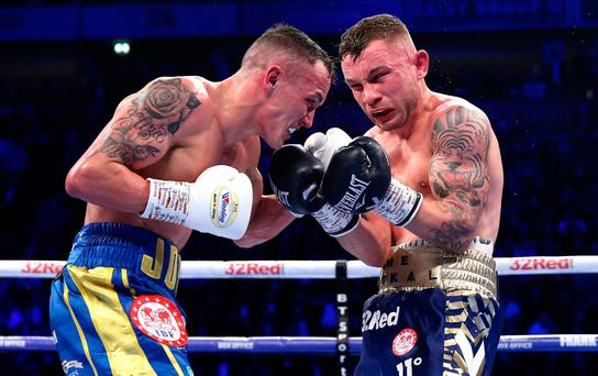 Carl Frampton was beaten by Josh Warrington.