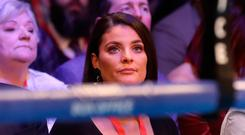 Christine Frampton ringside at the Manchester Arena. Pic: Martin Rickett/PA Wire