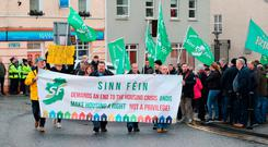 Protest over the eviction in Roscommon