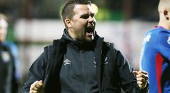Linfield's manager David Healy