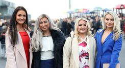 Rachael Greenfield, Lauren Carson, Maeve McIlroy and Joanne Lawlor pictured at Down Royal. Photo by Kelvin Boyes / Press Eye.