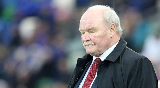 Glentoran manager Ronnie McFall was not amused following his side's Boxing Day defeat.