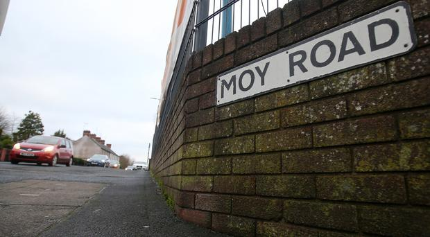 The Moy Road outside Armagh, where a pedestrian was knocked down and killed in the early hours of Thursday morning.
