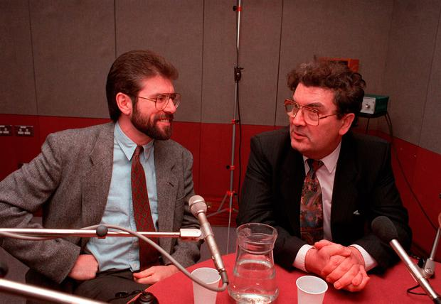 Gerry Adams and John Hume
