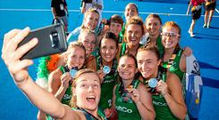 Picture perfect: Irish team show off their World Cup silver medals after their heroics in London